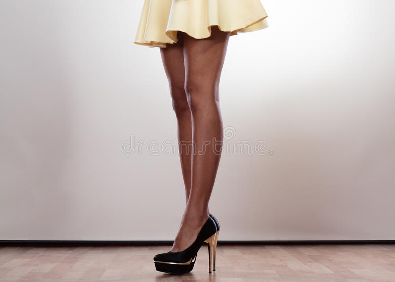 Attractive legs of woman royalty free stock photo
