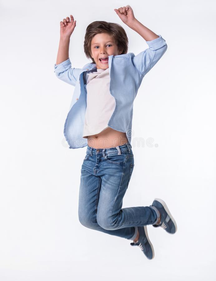 Attractive little boy royalty free stock photography