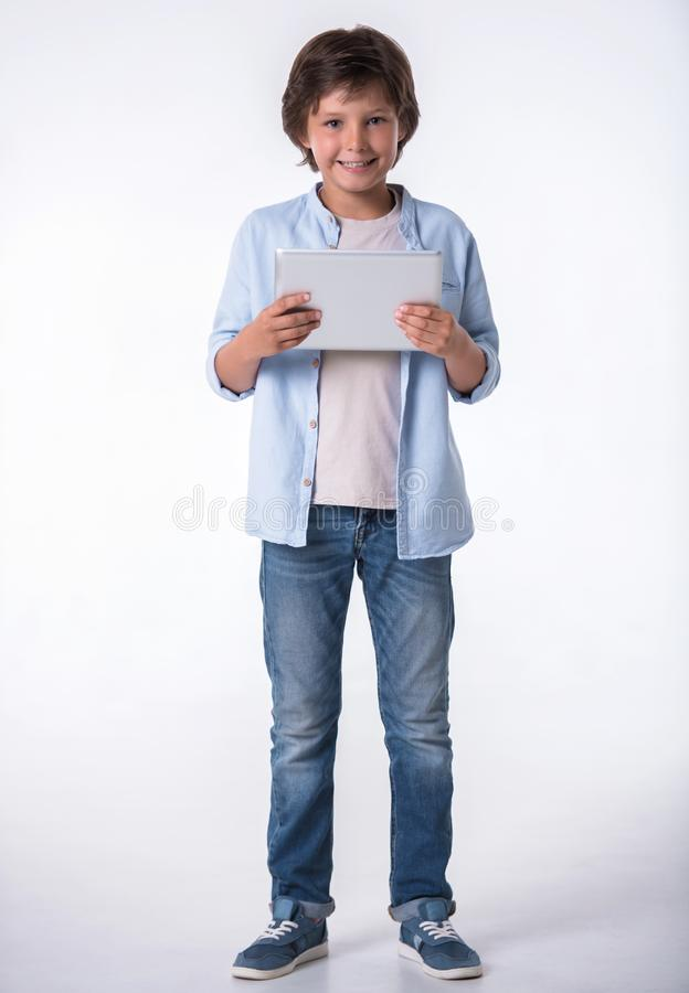 Attractive little boy stock images