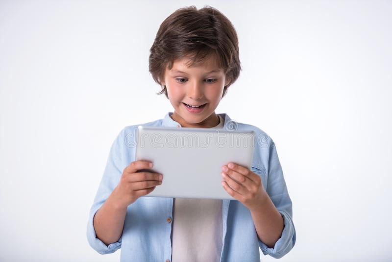 Attractive little boy stock photography
