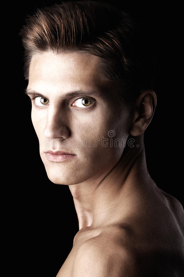 Attractive macho with beautiful body stock photography