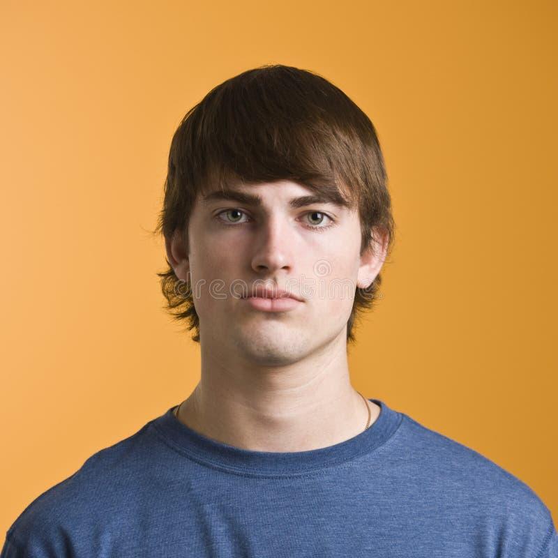 Attractive male headshot stock image