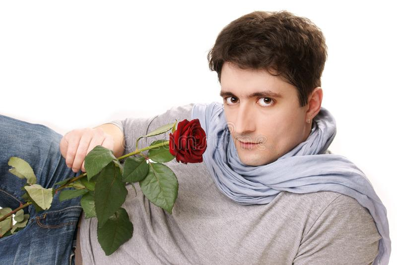 Attractive  man royalty free stock photography