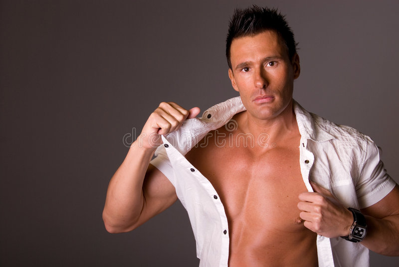Attractive man. royalty free stock photography