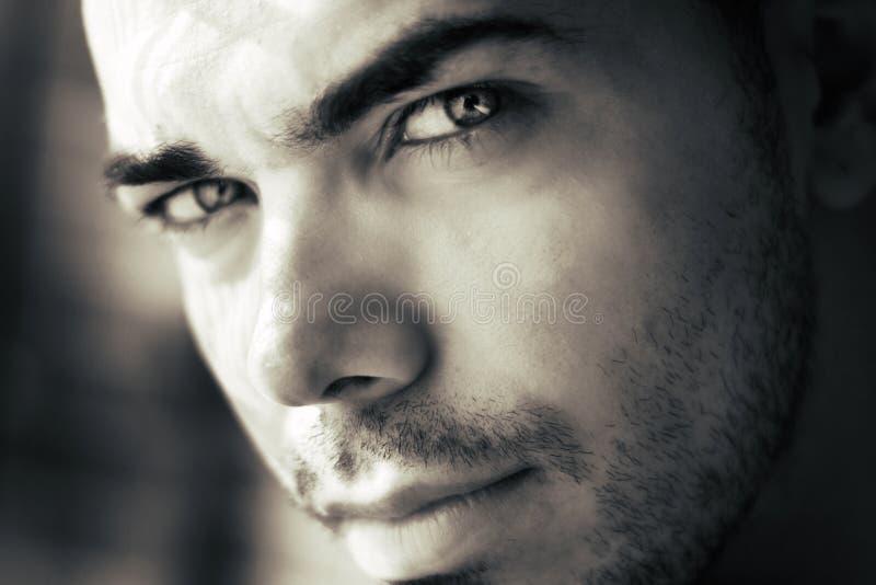 Attractive man's face stock photos