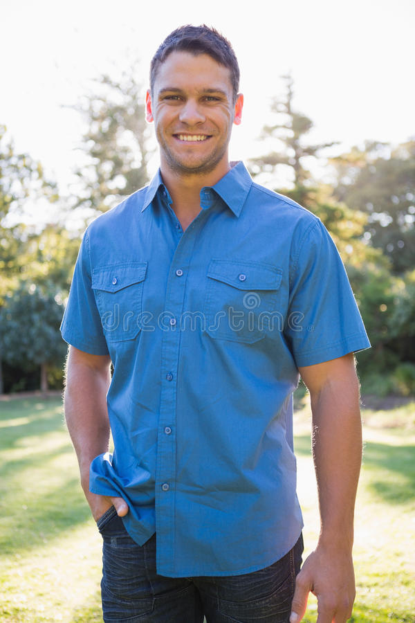 Attractive man smiling royalty free stock photography