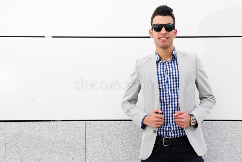 Download Attractive Man With Tinted Sunglasses Stock Image - Image: 25328241