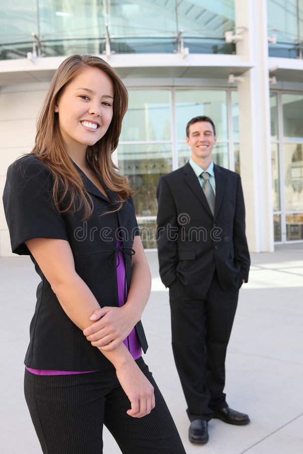 Attractive man and Woman Business Team