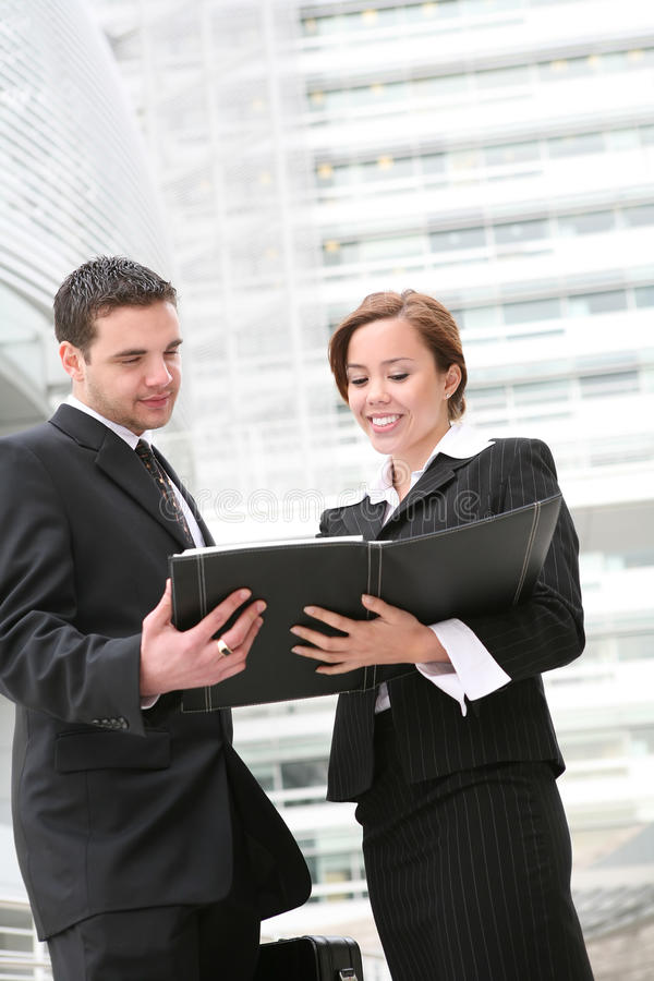 Attractive Man and Woman Team stock photo