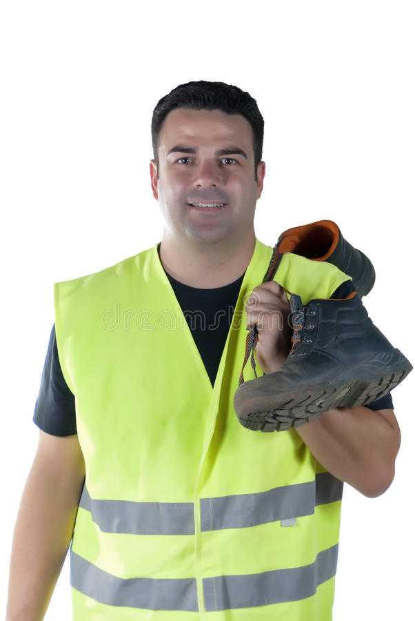 Attractive Man In Work Clothes And Shoes Stock Images