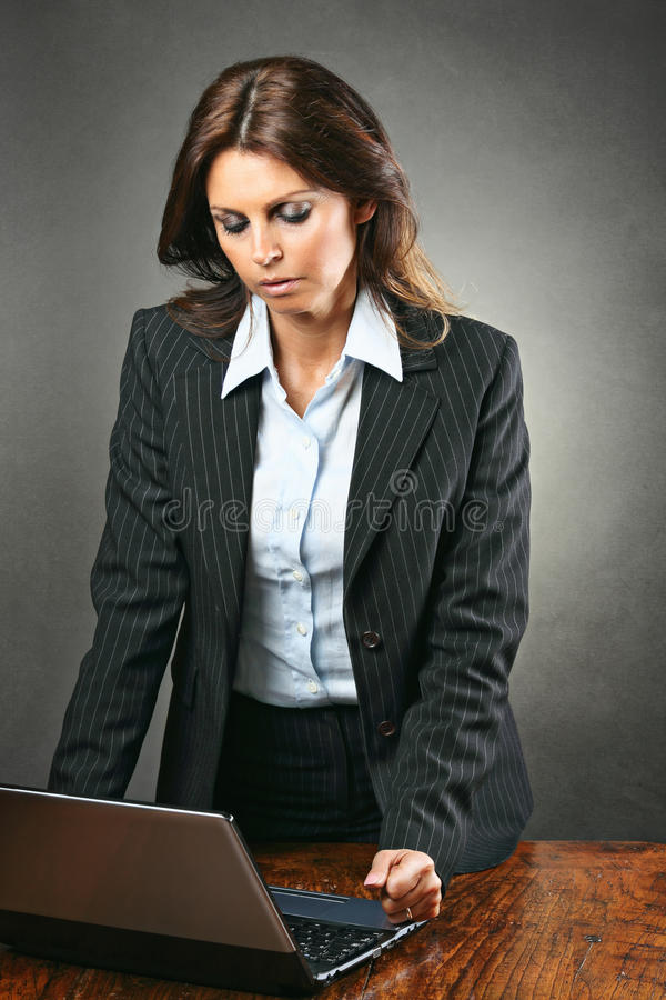 Download Attractive Manager Woman Angry With The Computer Stock Image - Image: 39275537