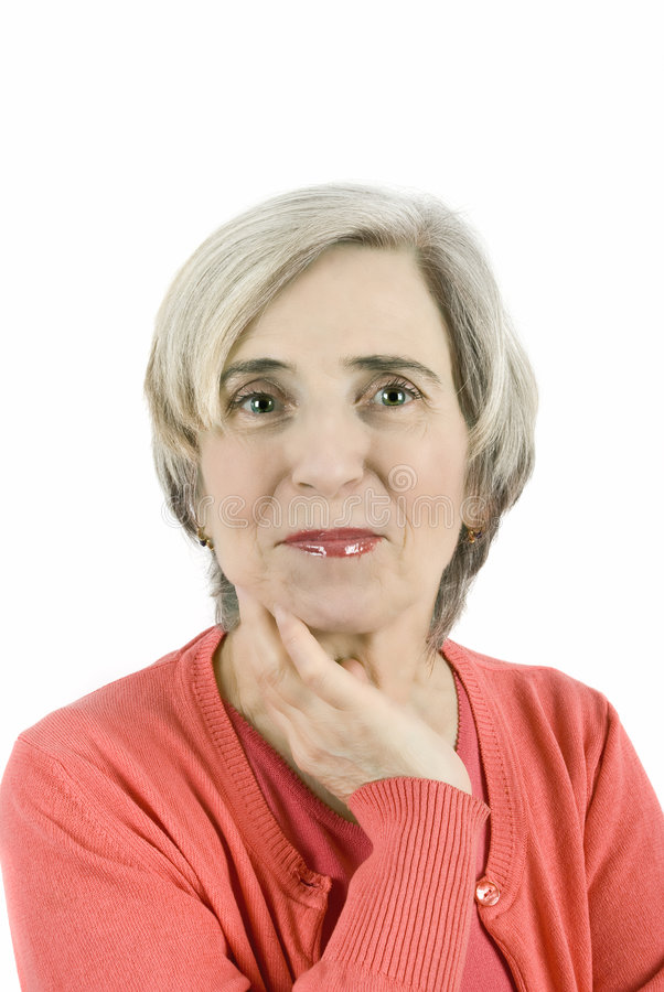 Attractive mature woman royalty free stock photos