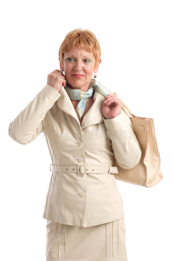 Attractive mature woman stock images