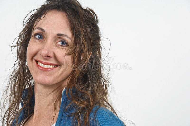 Attractive middle-aged woman. stock photos