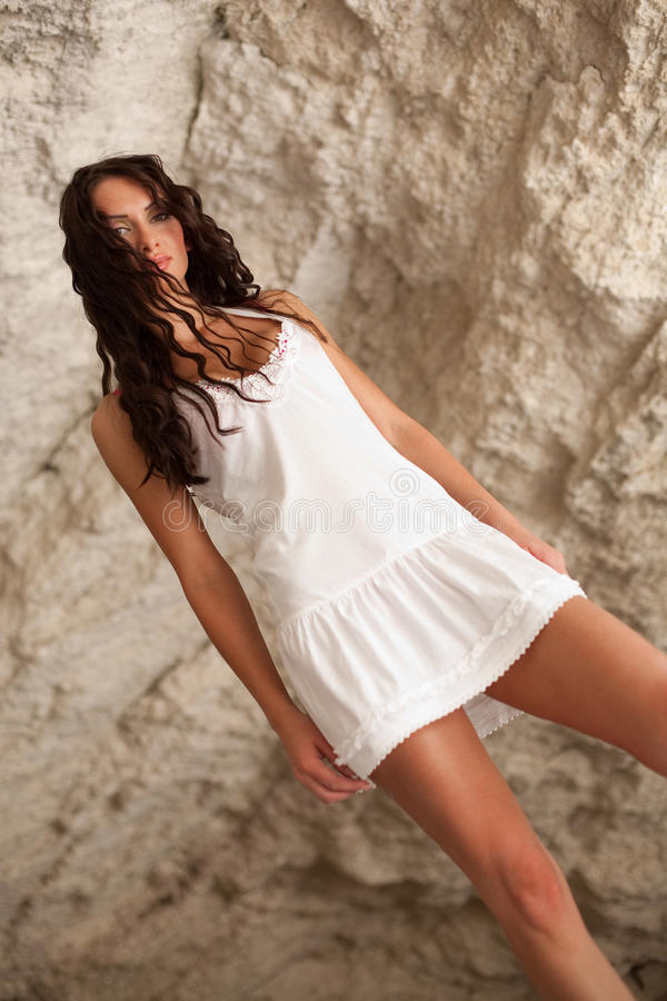 Download Attractive Model On Nature Backgrounds Stock Photo - Image: 12544560
