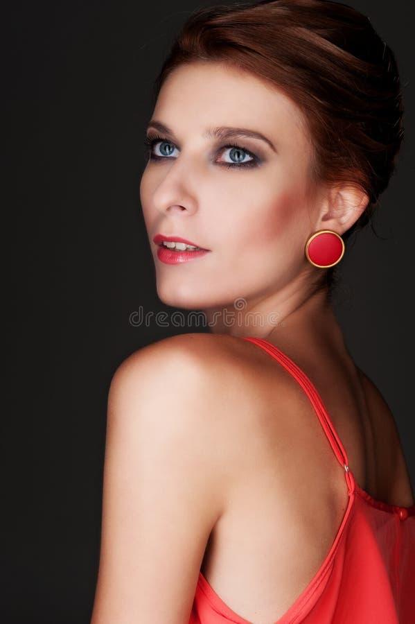 Download Attractive Model Over Dark Background Stock Image - Image: 27566465