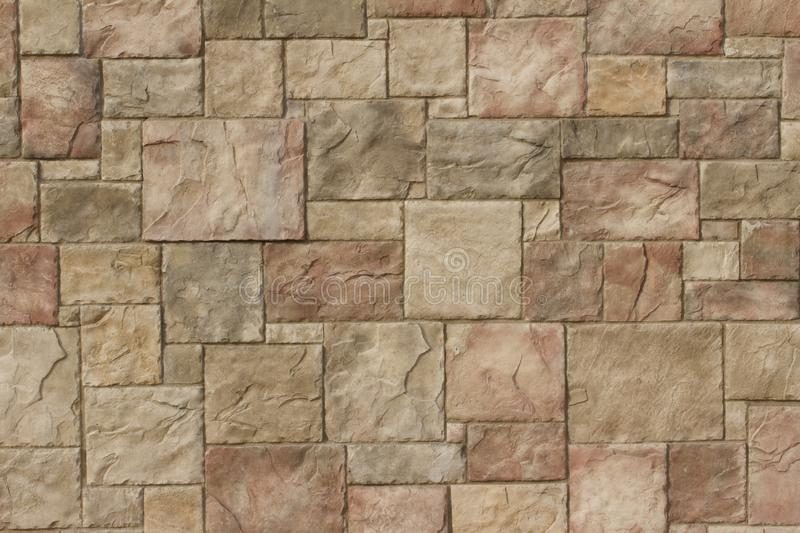 Attractive multi color brown tile wall background royalty free stock images