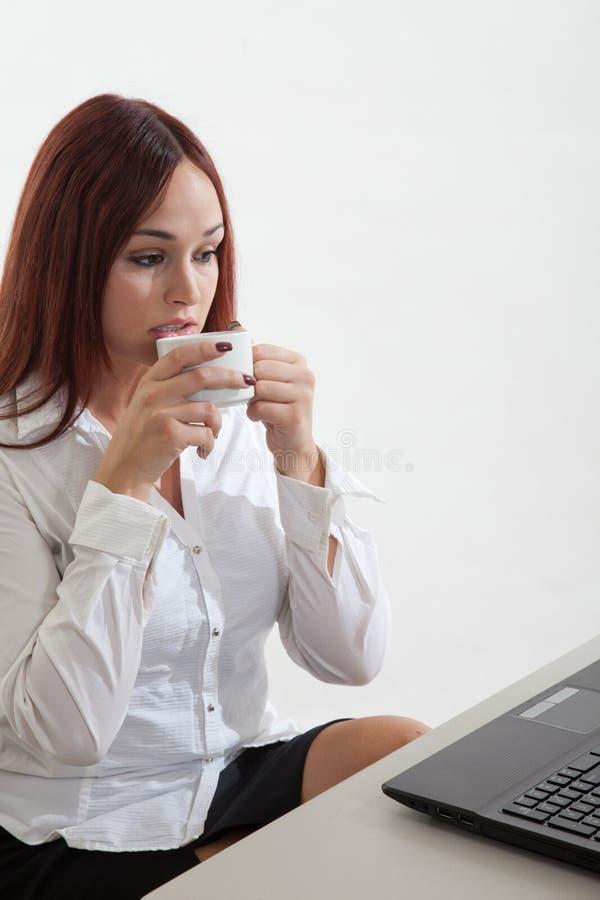 Attractive Native caucasian business woman