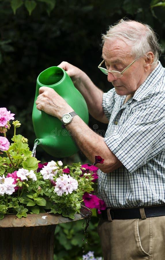 Attractive older man enjoying retirement royalty free stock photography