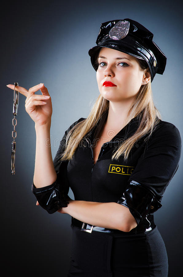 Download Attractive police office stock image. Image of girl, cuffs - 28418391
