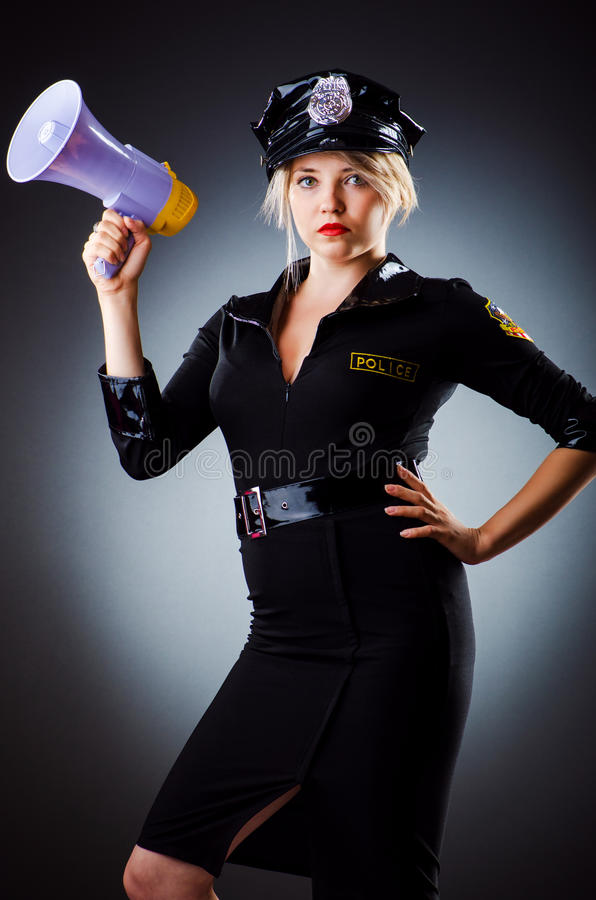 Download Attractive Police Office In Dark Stock Photo - Image: 27314180