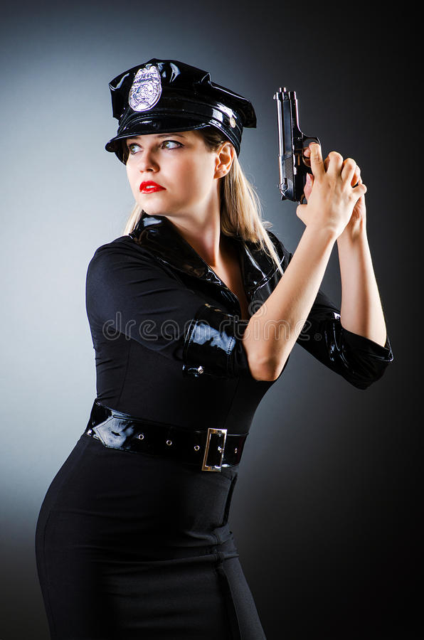 Download Attractive Police Office In Dark Stock Photo - Image: 27314244