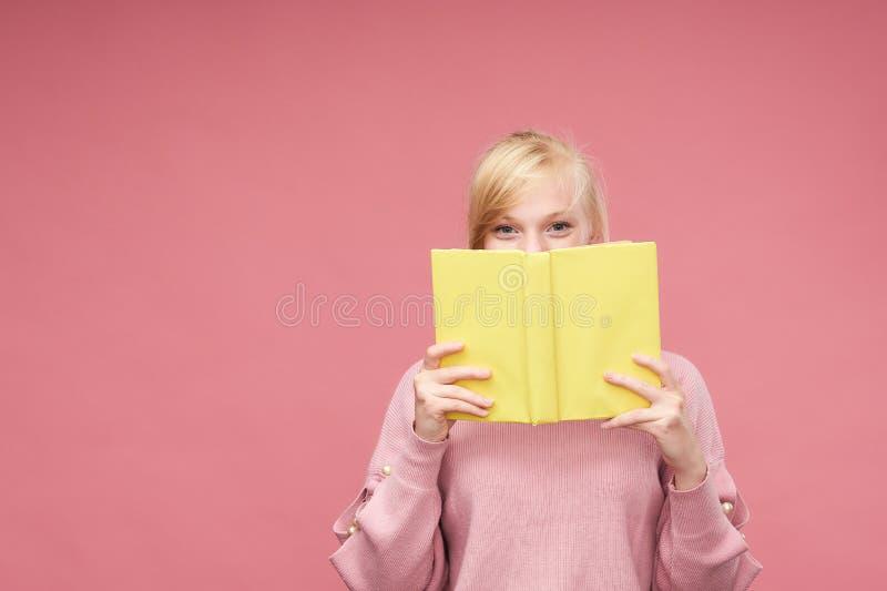 Attractive positive high school girl. naughty teen girl royalty free stock photo