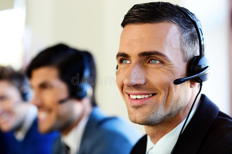 Attractive positive young businesspeopl stock photography