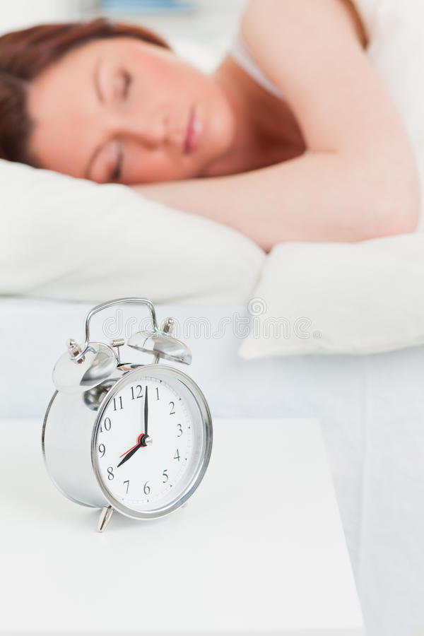 Download Attractive Red-haired Woman Sleeping Stock Photo - Image: 19887884