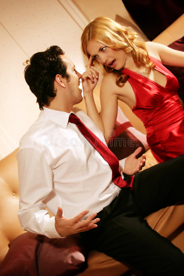 Attractive and rich couple royalty free stock photography