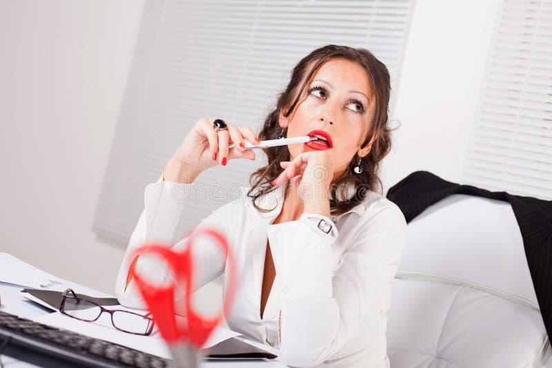 Attractive secretary royalty free stock image