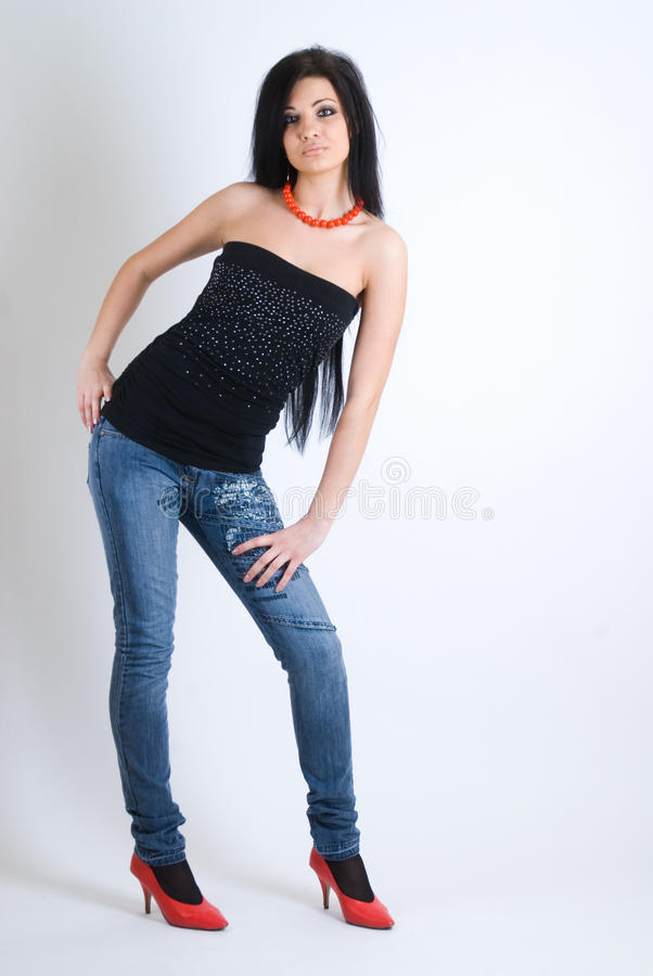 Download Attractive girl stock photo. Image of glamor, female - 16735978