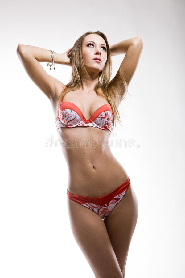 Download Attractive Woman In Red Lingerie Stock Image - Image: 12090211