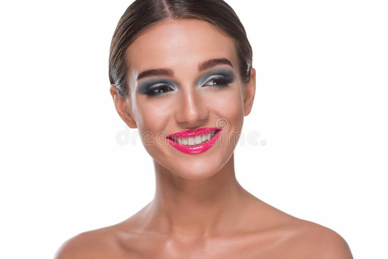 Attractive smile of young girl royalty free stock photos