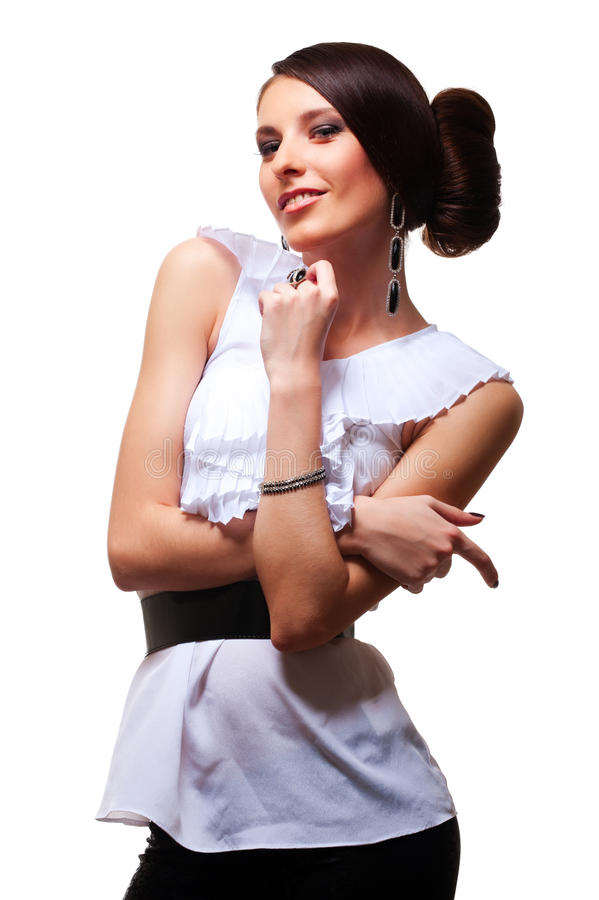Download Attractive Smiley Model Posing Stock Photo - Image: 20576516