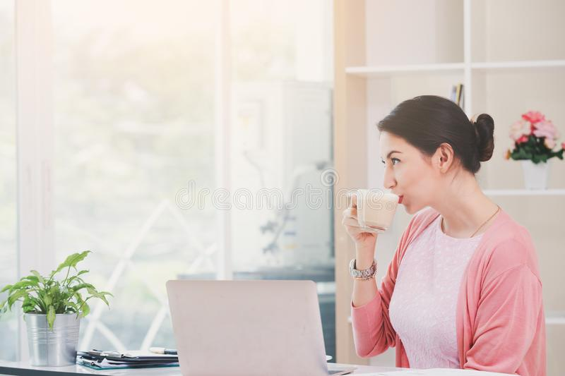 Attractive smiling business woman royalty free stock photo