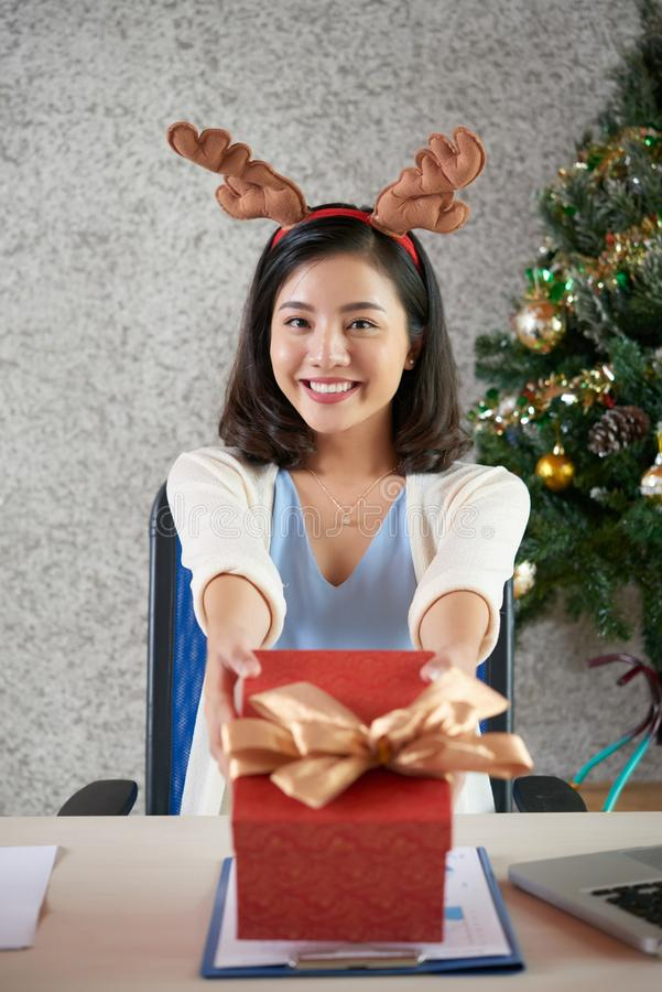 Presenting gift royalty free stock photos