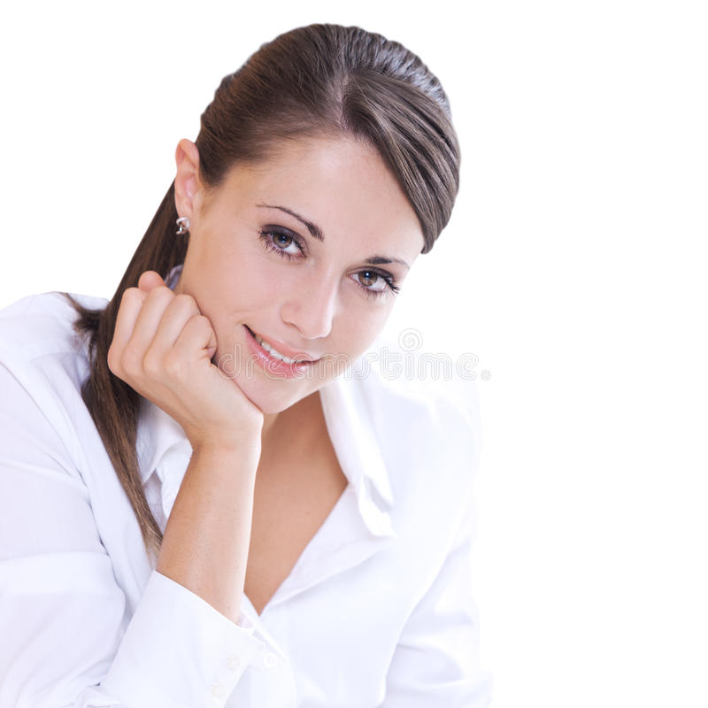 Attractive smiling woman stock photography