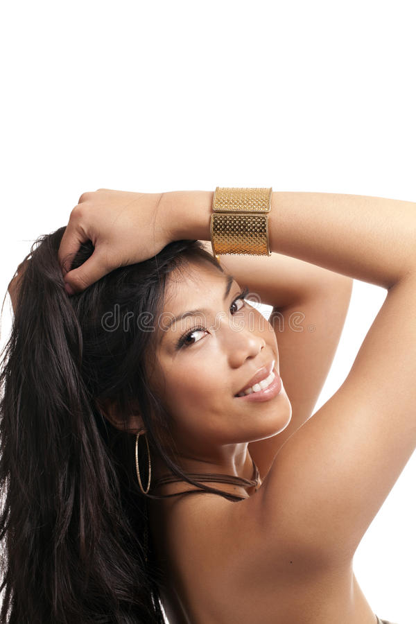 Download Attractive Smiling Young Woman Looking Stock Photo - Image: 18415466