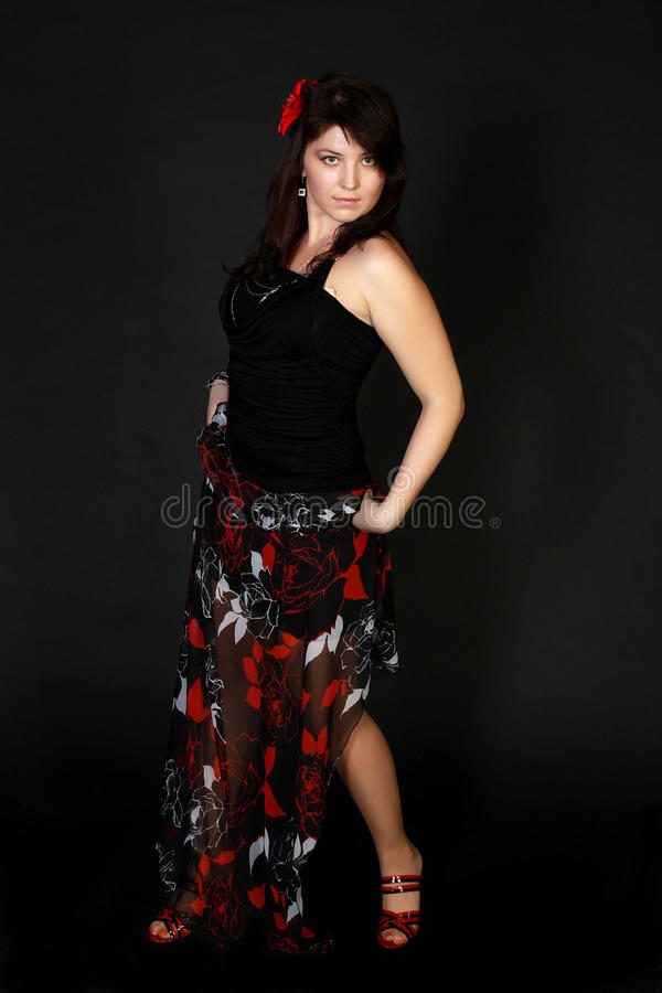 Download Attractive spanish dancer stock photo. Image of expression - 24843492