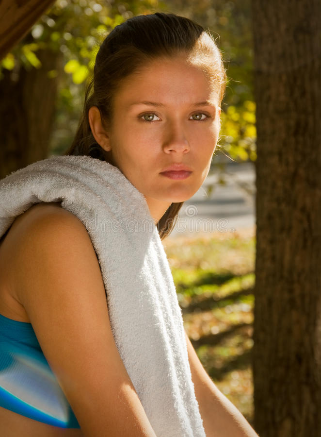 Attractive sporty teenager stock image