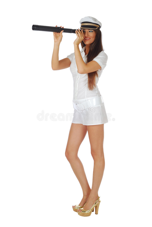 Attractive stewardess royalty free stock image