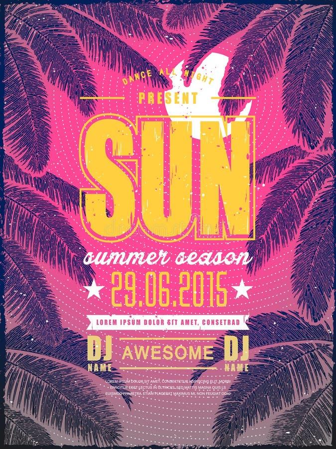Attractive summer beach party poster design vector illustration