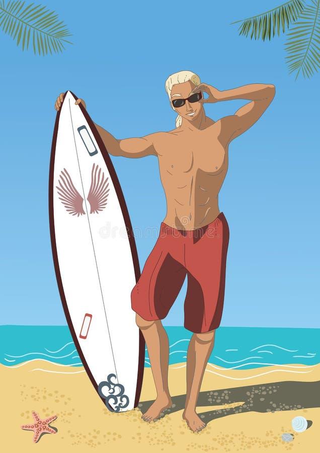Download Attractive Surfer stock vector. Illustration of attractive - 14526503