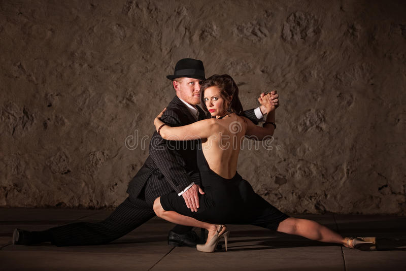 Attractive Tango Dancers stock photography