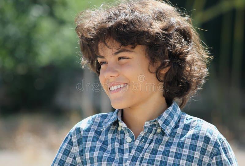 An attractive teenage boy stock photo