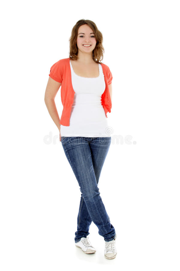 Download Attractive teenage girl stock image. Image of casual - 19923753