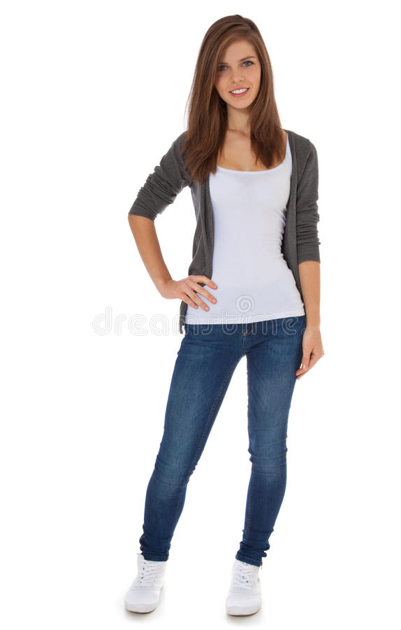 Attractive teenage girl royalty free stock photography