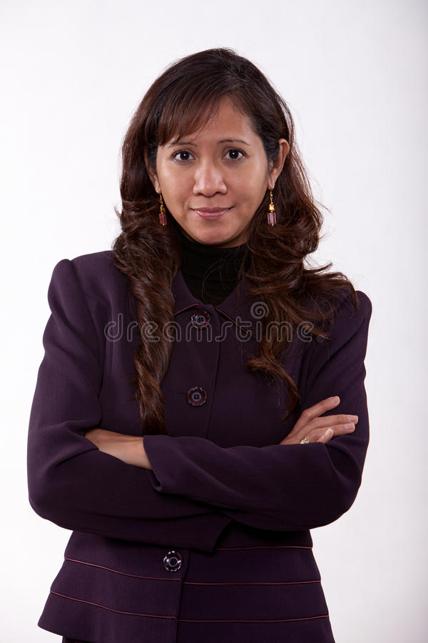 Attractive thirties asian business woman
