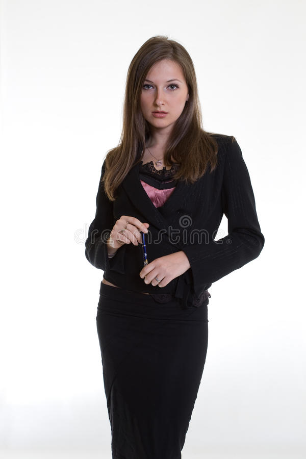 Attractive twenties caucasian businesswoman stock photo